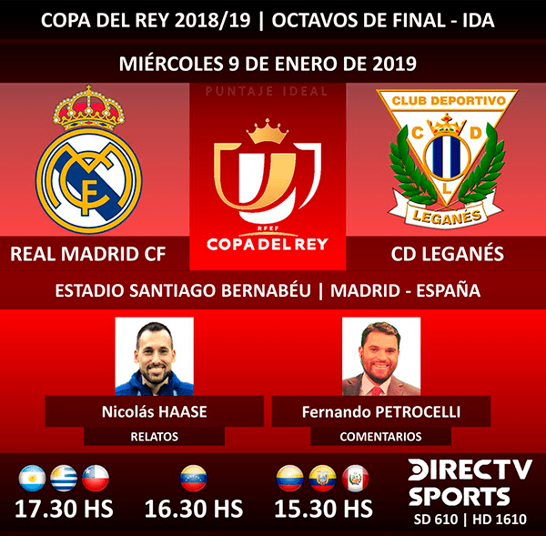 Real Madrid Aplastó 3-0 A Leganés En Los Octavos De Final