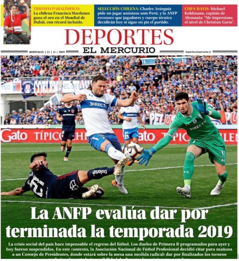 Seleccion Chile Directivos Determinaran Si Se Reinician Los Torneos O Acaban De Forma Anticipada Seleccion Peruana Twitter Libero Pe