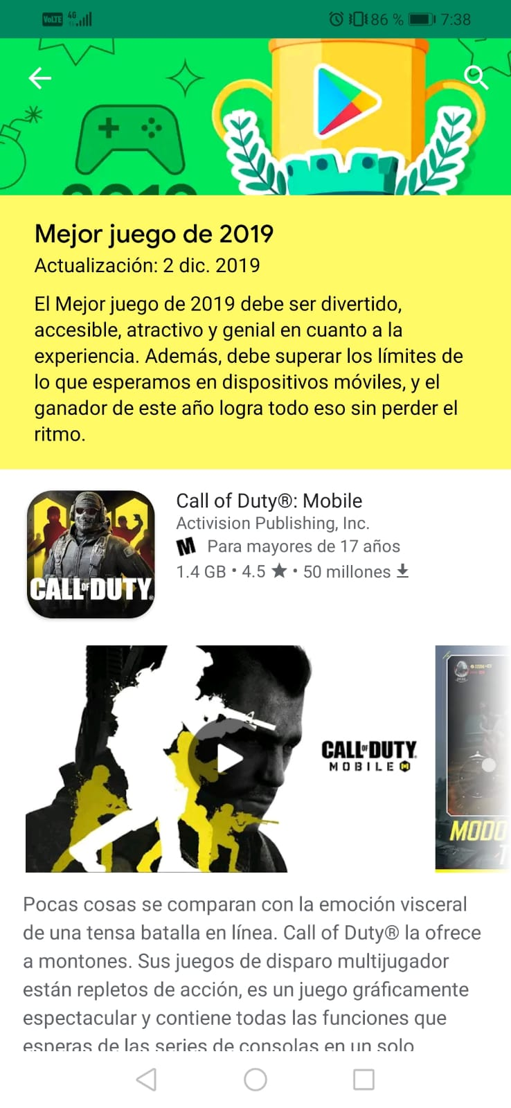 Call of Duty Mobile play store smarthphone android google
