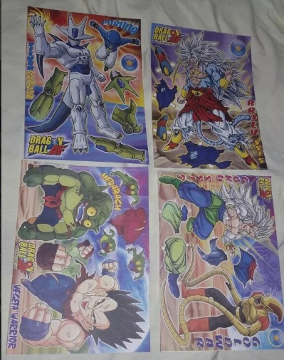 Dragon Ball recortables Gokú Goku Vegeta Krilin