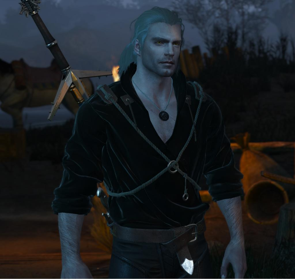 The Witcher Henry Cavill Geralt videojuego mod serie netflix