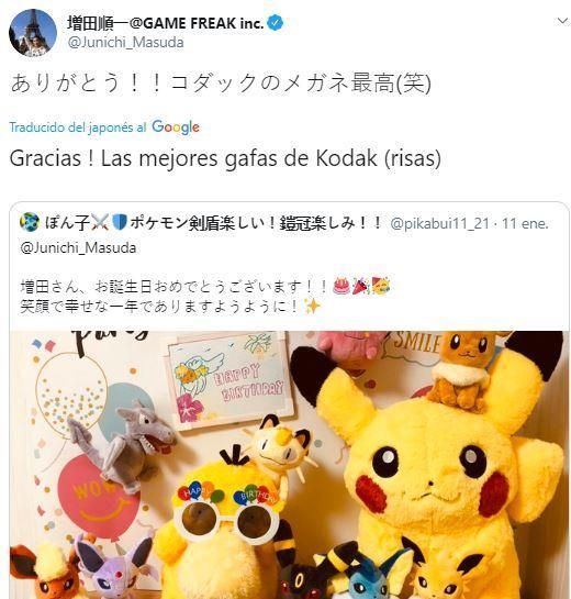 El productor de Pokémon recibe saludos por su cumpleaños