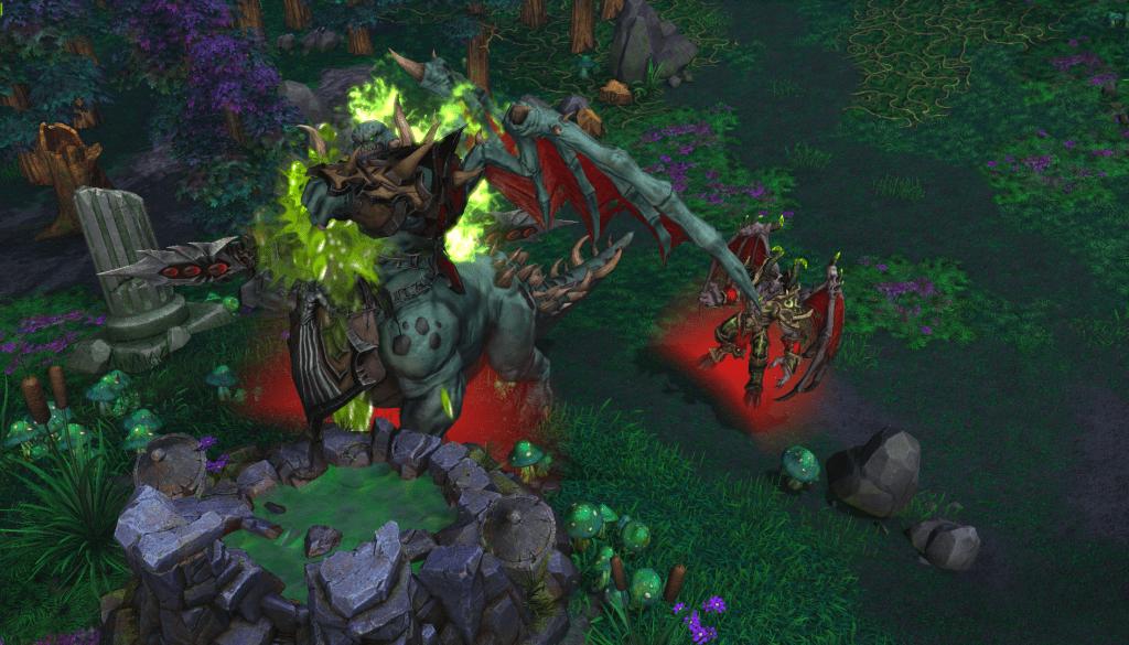 Mannoroth vierte su sangre en una fuente para corromper al clan Warsong.