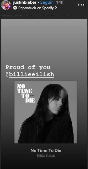 Justin se muestra orgulloso de la cantante