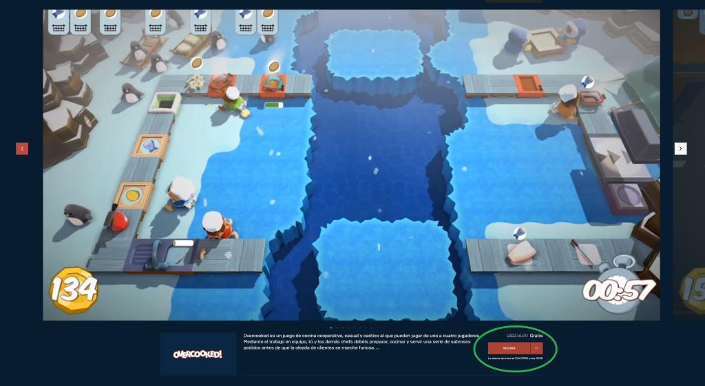 Descarga Overcooked gratis desde hoy en Epic Games Store ...