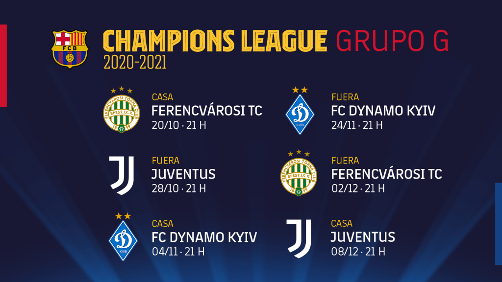 Barcelona Vs Juventus Dia Y Hora De Los Partidos Del Duelo Messi Vs Cristiano Calendario Grupo G Champions League 2020 Espana Italia Libero Pe