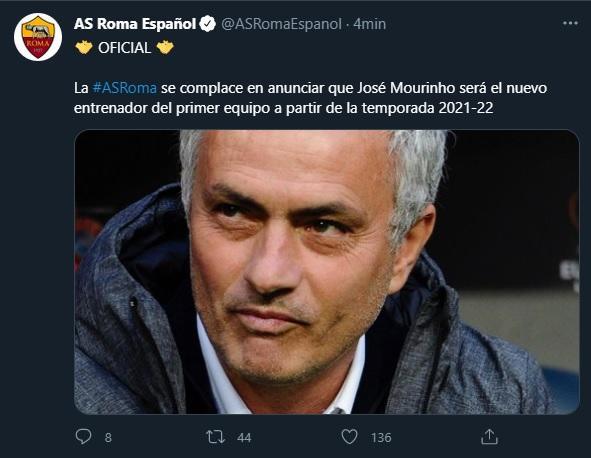 Jose Mourinho nuevo DT de Roma de la Serie A volvera al Calcio a partir de  temporada 2021-22 hoy ultimas noticias | libero.pe